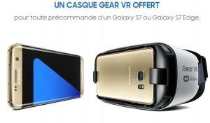 casque Gear VR offert pour la précommande du Samsung Galaxy S7