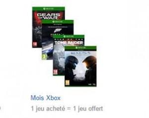 offre 1 jeu Xbox One gratuit pour 1 acheté