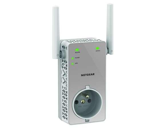 répéteur Netgear 750 Mbps avec prise intégrée