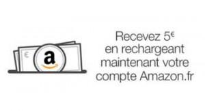 5€ offerts crédités sur Amazon