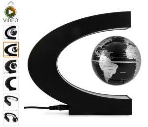 Globe terrestre en levitation
