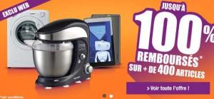 Opération 100% remboursé Auchan