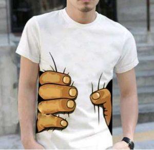 T-shirt homme fantaisie main