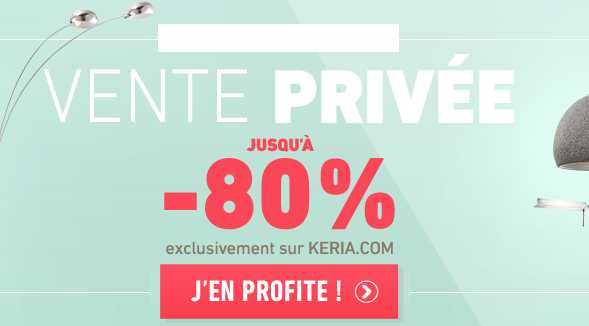vente priv e keria luminaire jusqu moins 80 bons plans malins. Black Bedroom Furniture Sets. Home Design Ideas