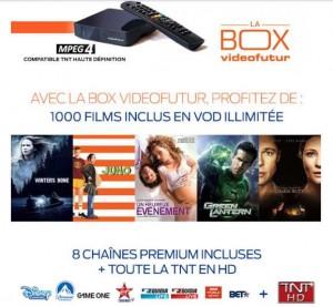 abonnement à la BOX Videofutur pas cher