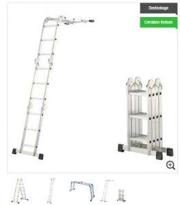 échelle articulée aluminium 4,30 mètres HAÏLO