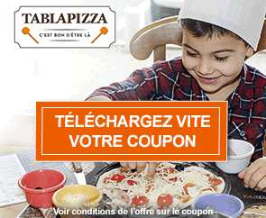 menu enfant Tablapizza gratuit