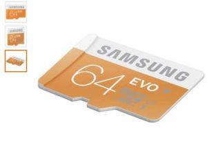 Carte micro SDXC 64Go Samsung EVO