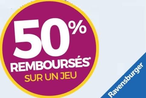 Ravensburger 50% remboursés