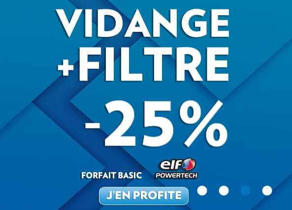 remise de 25 sur la vidange filtre elf chez speedy bons plans malins. Black Bedroom Furniture Sets. Home Design Ideas