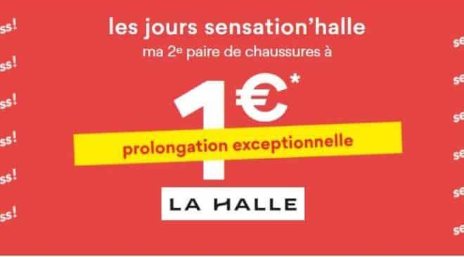 seconde paire de chaussure à 1€ seulement sur La Halle