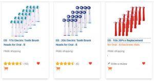 Brossettes de rechange pour Oral-B pas chères