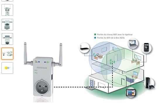 Netgear WN3100RP-100FRS Répéteur Universel Wifi-N