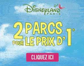 Offre spéciale Disneyland : 2 Parcs pour le prix d'1