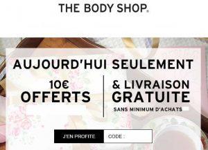 Remise de 10€ sur Body Shop