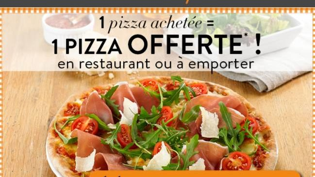 1 pizza Tablapizza gratuite coupon