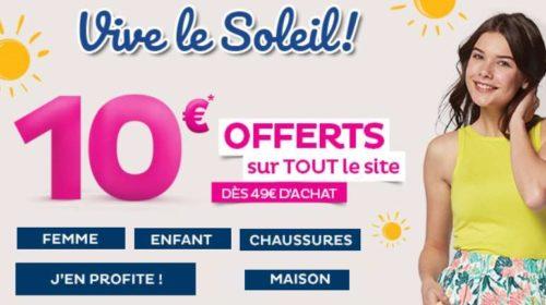 10 euros offerts sur tout Tati