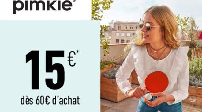 15 euros de remises sur PIMKIE