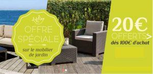 20€ de remise mobilier de jardin MonCornerDeco