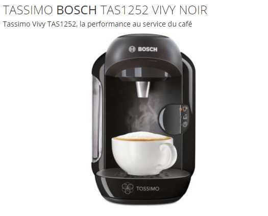 Cafetière Tassimo BOSCH Vivy TAS1252 à 29 euros