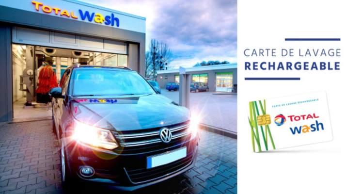 Carte lavage auto Total Wash moitié prix