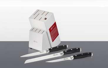 Lagostina 3 couteaux achetés = 1 bloc couteaux offert