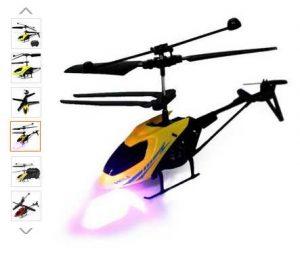 Mini hélicoptère RC télécommandé avec lampe à 6,26€