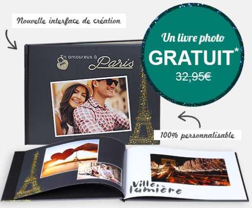 Moins de 4€ le livre photo prestige 26 pages port inclus