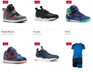 T-shirts et chaussures Reebok enfant à mini prix