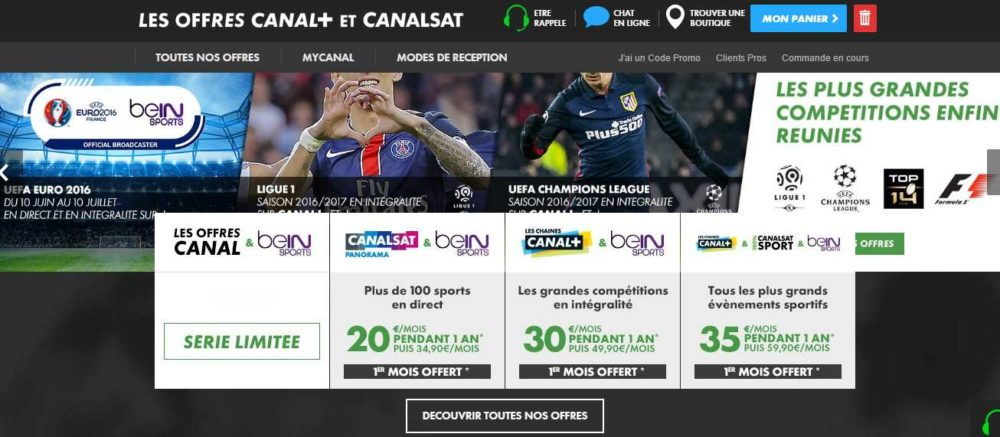 canal canalsat beinsport streaming. Black Bedroom Furniture Sets. Home Design Ideas