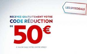 bon d'achat Speedeals de Speedy 100€ pour 50€