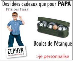 cadeau personnalisé avec gravure sur Zephyr