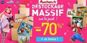 déstockage de jouets d'Auchan
