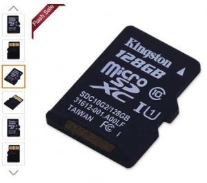 vente flash MicroSDXC 128Go Kingston à moins de 29€