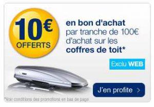 Norauto : 10€ offerts tous les 100€