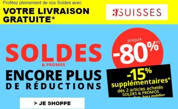Soldes 3 Suisses : livraison gratuite