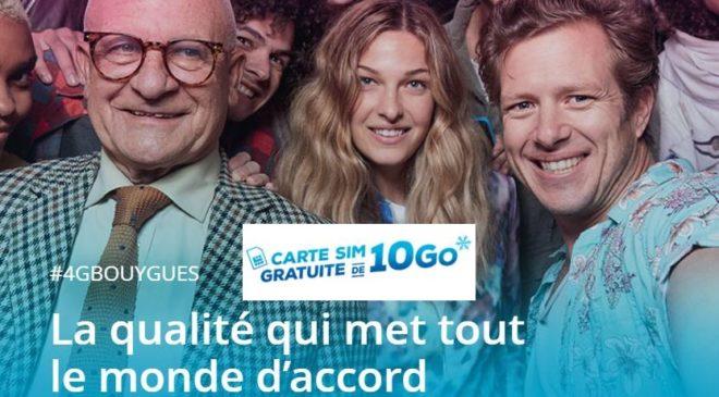 carte Sim avec 10Go 4G Bouygues Telecom