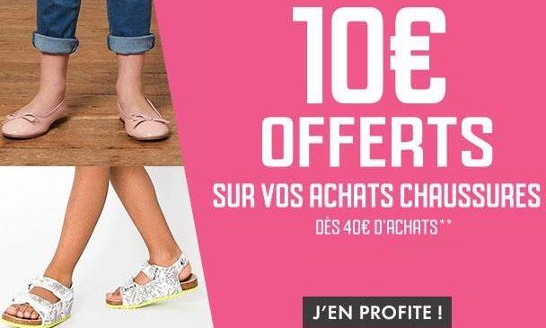 10€ de remise sur le rayon chaussures Gémo