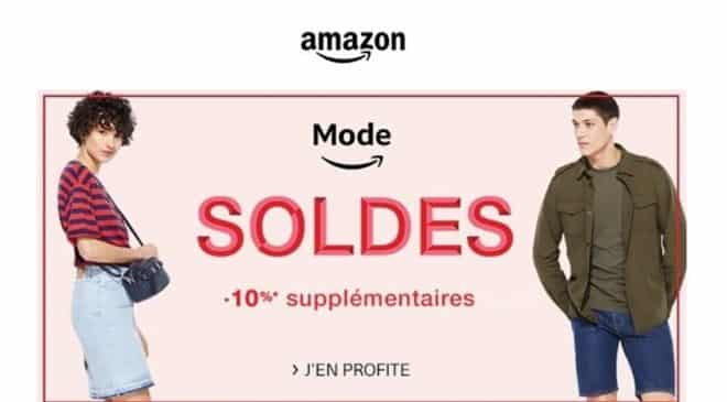 10% en plus sur les soldes mode Amazon