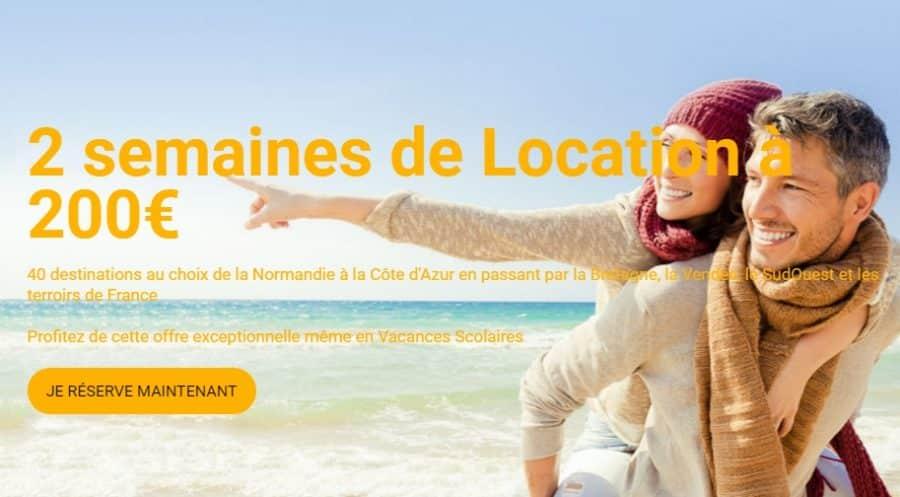 2 semaines de location en France à 200€ avec Carrefour Voyages