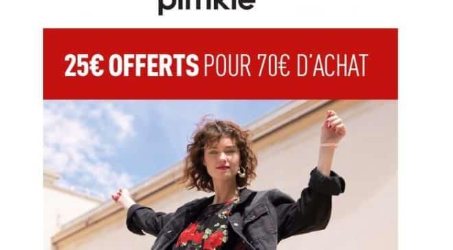 25€ dès 70€ d'achat sur PIMKIE