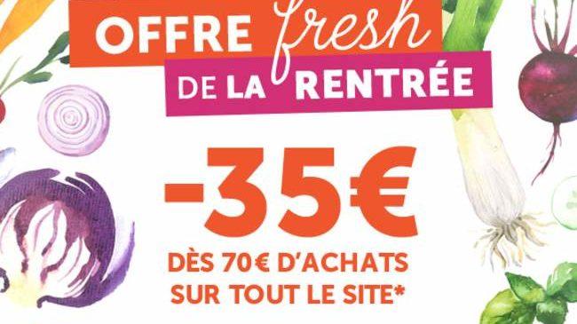 35 euros les 70 euros d'achats Toupargel