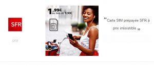 CARTE SIM SFR prépayée à 1,99€