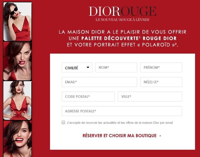 Demandez votre Palette échantillon it-teintes Rouge à lèvres Rouge Dior