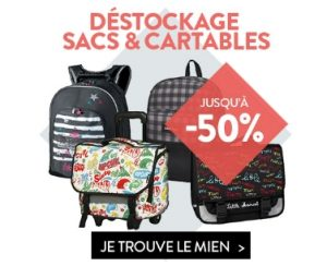 Destockage cartables et sacs a dos Cultura