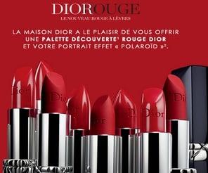 Palette échantillon Dior gratuite