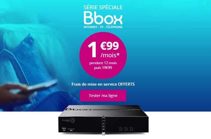 Serie Spéciale Bbox 1,99€ pendant 1 an