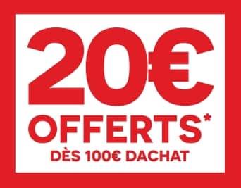 carrefour 20 euros offert tous les 100 euros pour une commande en ligne retrait mag. Black Bedroom Furniture Sets. Home Design Ideas