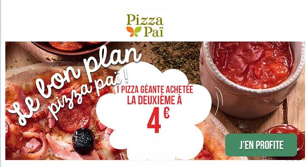 pizza à emporter : seconde Pizza Pai à 4 €