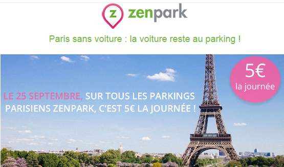 5 la journ e parkings zenpark paris dimanche pour la journ e sans voiture paris. Black Bedroom Furniture Sets. Home Design Ideas